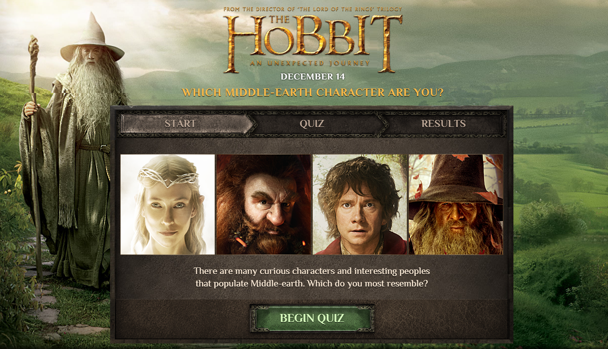 Quiz Determines If You're A Hobbit, Dwarf, Elf, or Wizard