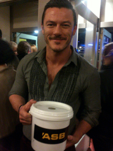 LukeEvans at Ian McKellen's show by Angela Moriarty