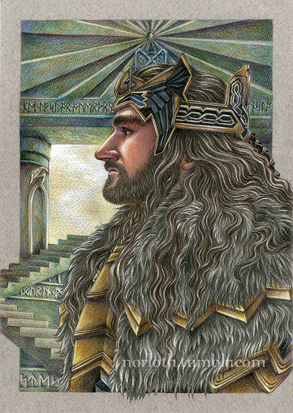 Norloth's portrait of Thorin Oakenshield - Approved by RIchard Armitage!