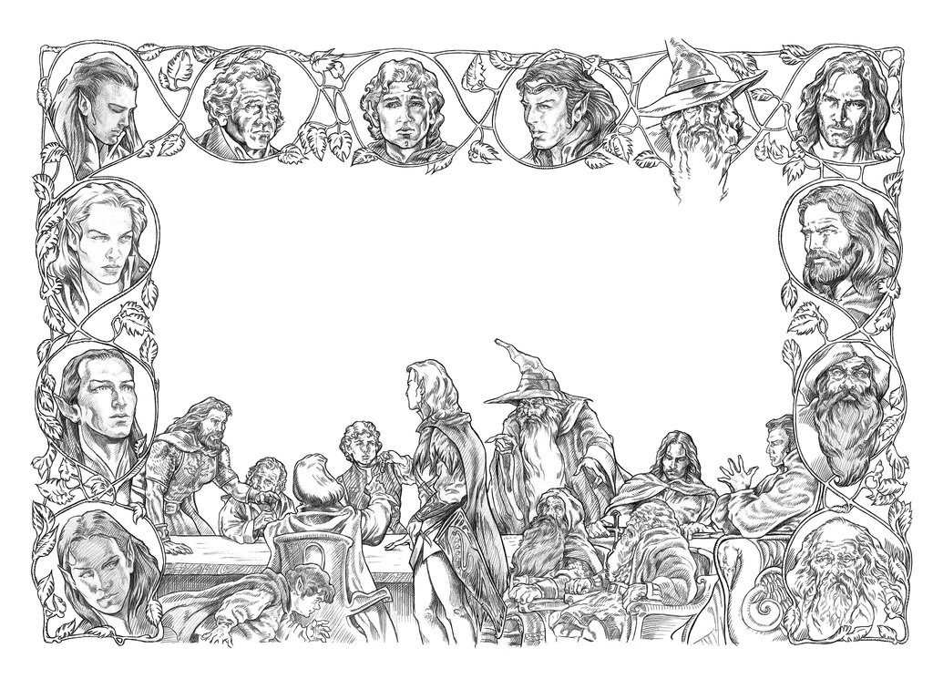 Middle Earth Coloring Pages