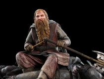 Gimli the Dwarf on Uruk-hai Statue Available from Weta Workshop